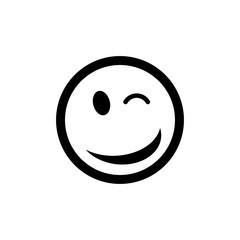 Wink vector icon