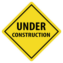 under construction icon on white background. under construction logo. vecter sign under construction. flat style.