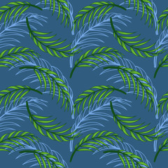 tropical leaf floral seamless pattern
