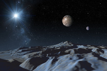 A frozen surface of dwarf planet