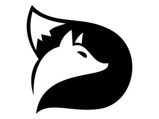 D wolf logo vector