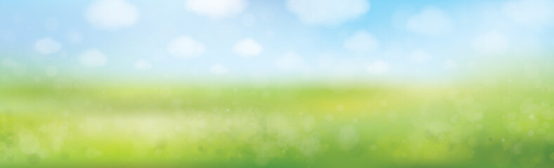Vector summer nature  background, blurred effect.