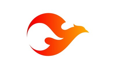 Fire Bird logo vector