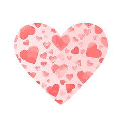pink watercolor hearts. valentines background. vector heart shape