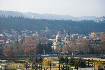 Tbilisi's downtown in winter time