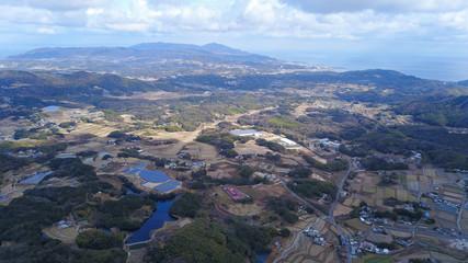 日本の田舎風景・ドローン撮影