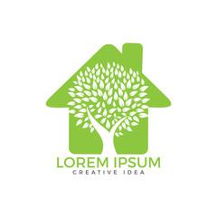 Green house logo. Tree house logo.