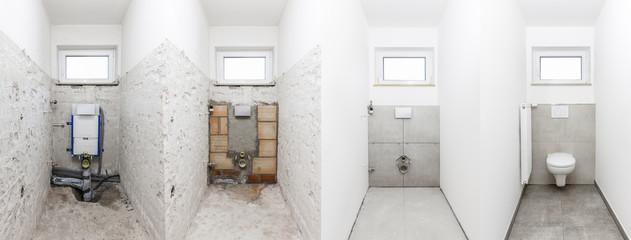 Obraz Toilettensanierung - fototapety do salonu