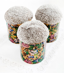 Easter cakes with sugar sprinkles