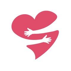 сердце обнимает