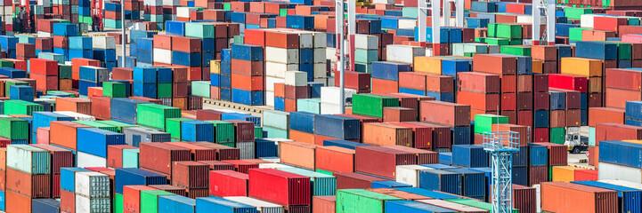 Containerhafen Panorama Hintergrund