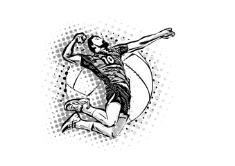 men's volleyball vector illustration