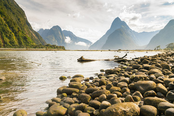 Milford Sound West coast south island New Zealand natural landscape background