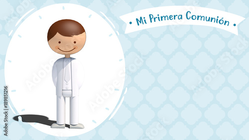 """Primera Comunión Niño"" Immagini E Fotografie Royalty"