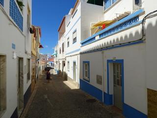 Salema en el Algarve (Portugal) pueblo de pescadores situado a pie de playa entre Sagres y Lagos