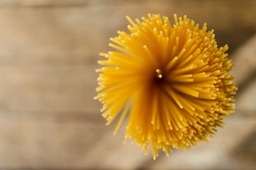 Spaghetti top view