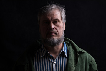 dark facial male portrait