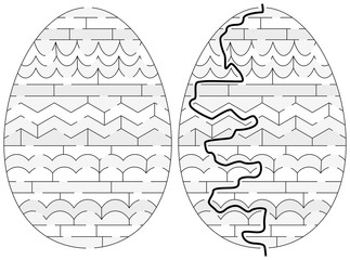 Easy Easter egg maze