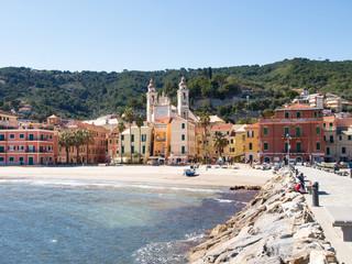 Papiers peints Ville sur l eau Laigueglia, view from the sea