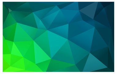 Light Blue, Green vector Lowpoly Background with copy-space. Used opacity mask.