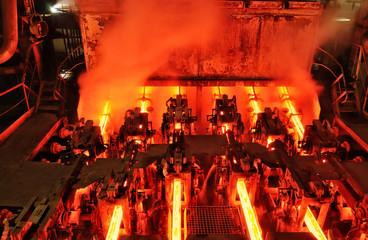 metallurgical plant continuous casting machine