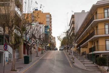 Hilly town in mallorca