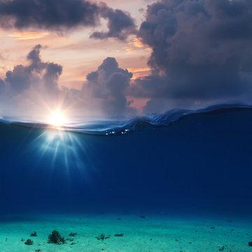 Sea water aquatic background