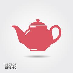 Teapot vector icon, tea symbol.