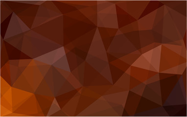 Dark Red vector Triangle mosaic background with transparencies in origami style.