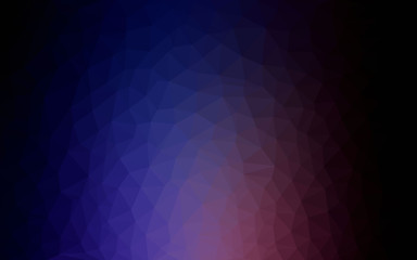 Dark Pink, Blue vector Polygon Abstract Background. Polygonal Geometric Triangle.