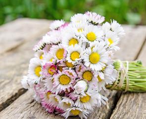 Alle Liebe, Glückwunsch, Danke: Strauß aus Gänseblümchen in kleiner Vase :)