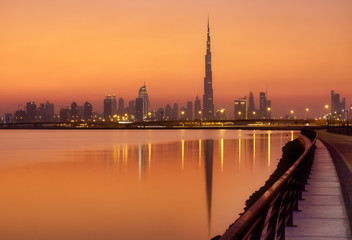 Burj Khalifa in the golden hour - Dubai