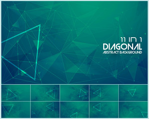 Polygonal line and low poly abstract background