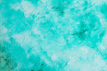Slate or stone kitchen table turquoise. Culinary background. Flat lay. Top view.