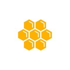 Honeycomb flat vector icon