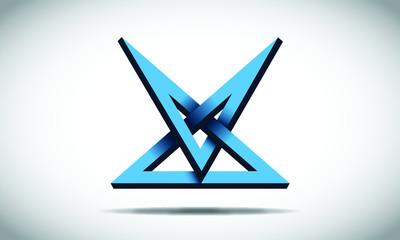 Illusion Blue Logo Design