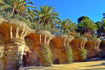 .Parque Guell de Antonio Gaudí en Barcelona