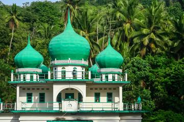 Small mosque in the jungle in Sumatra