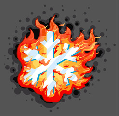 Burning Snowflake