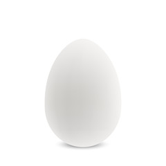 Vector white single realistic egg.