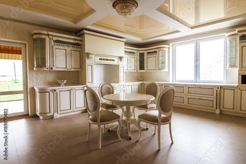 Luxury Modern Fitted Kitchen Interior Kitchen In Luxury Home With