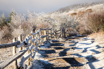 Appalachian Trail Fence Gryason Highlands