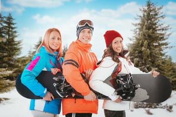 Friends On Ski Vacation