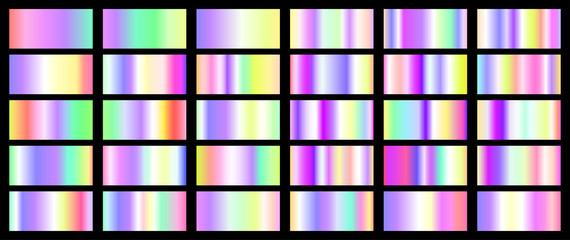 Set of various colorful gradients