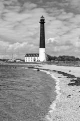 Sorve lighthouse against blue sky, Saaremaa island, Estonia
