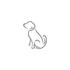 Dog - Simple Modern Dog Logo Template