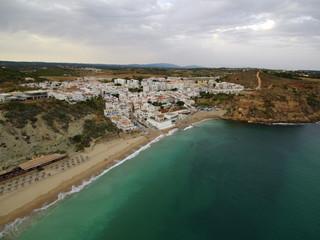 Playa Burgau, pueblo de Portugal en el Algarve, municipio de Vila do Bispo, pueblo de pescadores