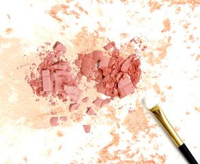 Crushed make up face powder background