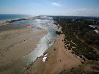 Cacela Velha  en Portugal,aldea costera  del Algarve, en la zona del Parque Natural de Ria Formosa  perteneciente a Vila Real de Santo António