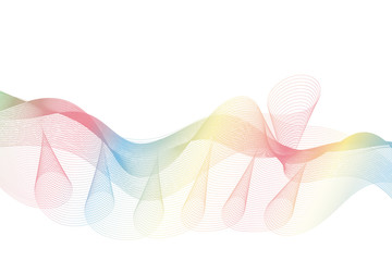 wave lines wavy abstract colorful for brochure and website design on white background. vector illustration